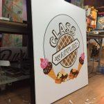 Class Waffle Dondurma Isıklı Tabela