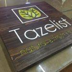 TazeList Naturel Fresh Food Ahsap Tabela