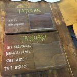 TazeList Naturel Fresh Food Lazer Kazıma Dogal Ahsap Menu Tabela Imalat