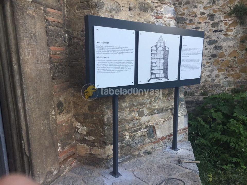 Turkiye Kultur Ve Truzim Bakanlıgı Rumeli Hisarı Muzesi Kule Fon Tabela Montajı
