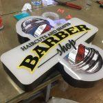 Almanya Barber 3D LED TABELA