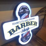 Almanya Barber 3D LED TABELA Montaj