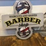 Almanya Barber 3D LED TABELA (Neon Etkili)