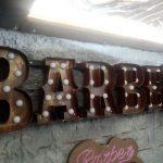 Almanya Barber Eskitme Kutu Harf Ampul Tabela