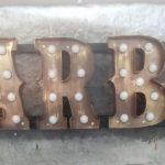 Almanya Barber Eskitme Kutu Harf Tabela