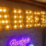 Almanya Barber Eskitme Ters Tava Kutu Harf Ampul Tabela