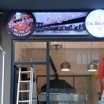 Brooklyn Pizza Isıklı Tabela Montaj