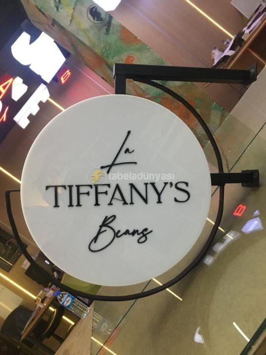 Tiffany Garden Suleymaniye Isıklı Cift taraflı Daire Tabela Montajı