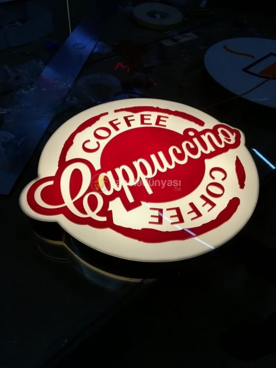 Cappuccino Coffee 3D Led Tabela (Neon Etkili Tabela) uretimi