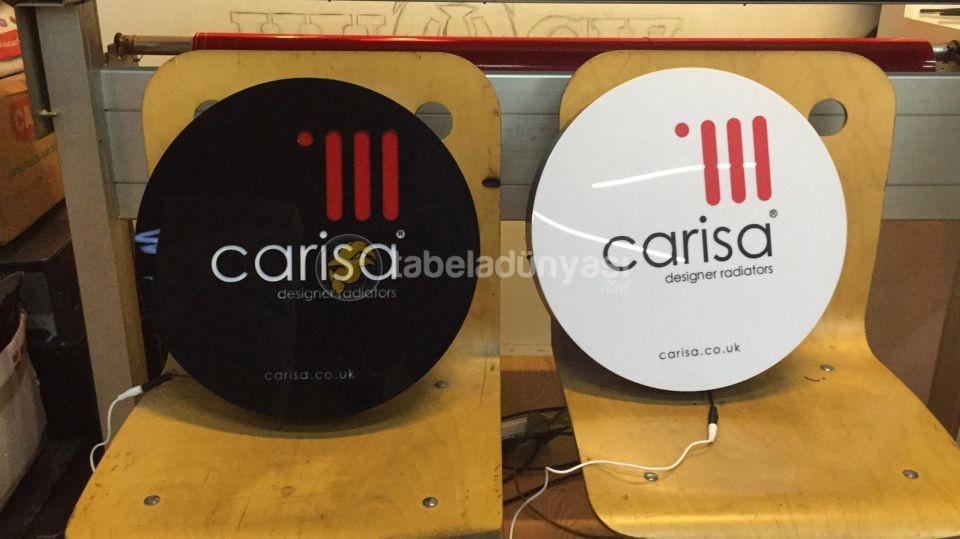 Carisa Designer Radiators Seri uretim 3D Led Tabela (Neon Etkili Tabela) imalatı