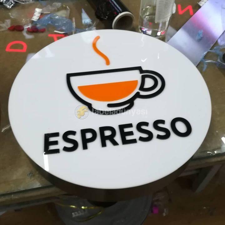 Espresso 3D Led Tabela