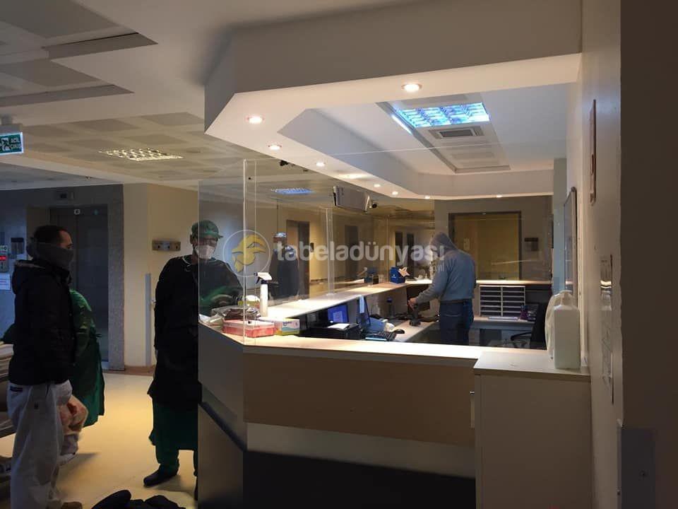Fatih Sultan Mehmet Hastanesi koruyucu Pleksi Seperator imalat