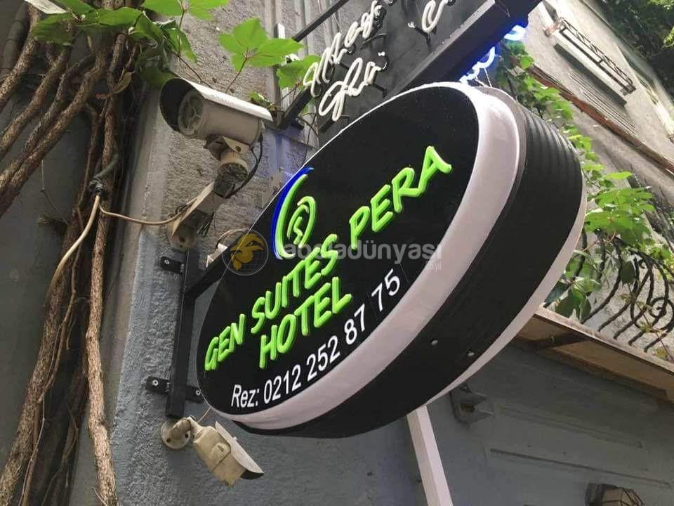 Gen Suıtes Pera Hotel Isıklı Hazır Elips Tabela