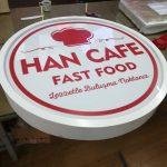 Han Cafe Fast Food Hazır Daire Tabela imalatı