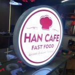 Han Cafe Fast Food Isıklı Hazır Daire Tabela imalat
