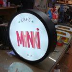 Manki Cafe Isıklı Hazır Daire Tabela montaj