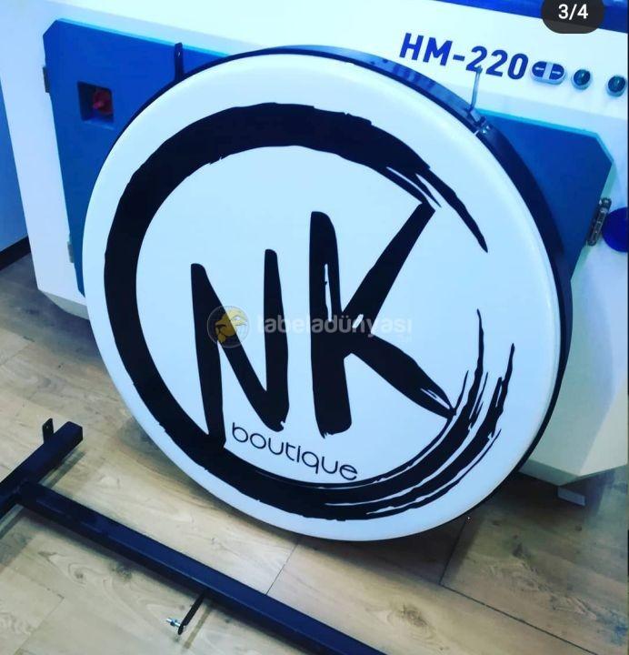 NK Boutiqe Ayaklı Isıklı Hazır Daire Tabela