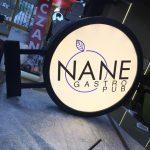 Nane Gastro Pub Isıklı Hazır Daire Tabela
