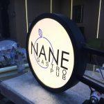 Nane Gastro Pub Isıklı Hazır Daire Tabela imalat