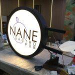 Nane Gastro Pub Isıklı Hazır Daire Tabela imalatı