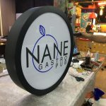 Nane Gastro Pub Isıklı fileli Hazır Daire Tabela imalatı