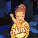 Nani's Cheesecake Almanya Isıklı Kutu Logo imalat