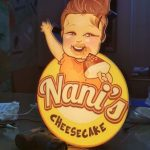 Nani's Cheesecake Almanya ısıklı Hazır Tabela
