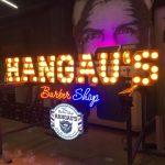Almanya Hangau's Barber Shop Ampul neon led Tabela