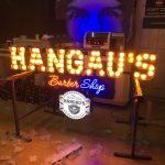 Almanya Hangau's Barber Shop Ampul neon led Tabela imalatı