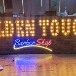 Almanya Hangau's Barber Shop Ampullu Retro Kutu Harf Tabela imalat