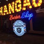 Almanya Hangau's Barber Shop Isıklı Tabela imalat