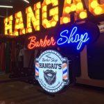 Almanya Hangau's Barber Shop Isıklı Tabela imalatı