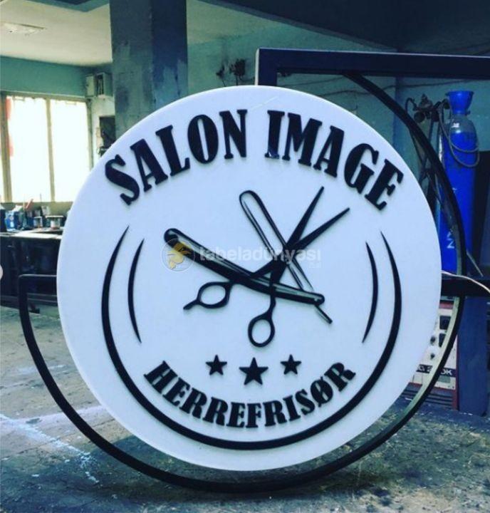 Danimarka Salon Image Isıklı Daire Hazır Tabela