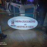Hera Zuccaciye ve Hediyelik Esya Işıklı Elips Hazır Tabela imalat