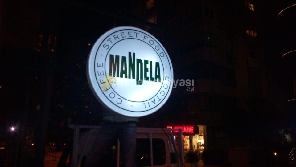 Mandela Coffee Isıklı Hazır Daire Tabela imalat
