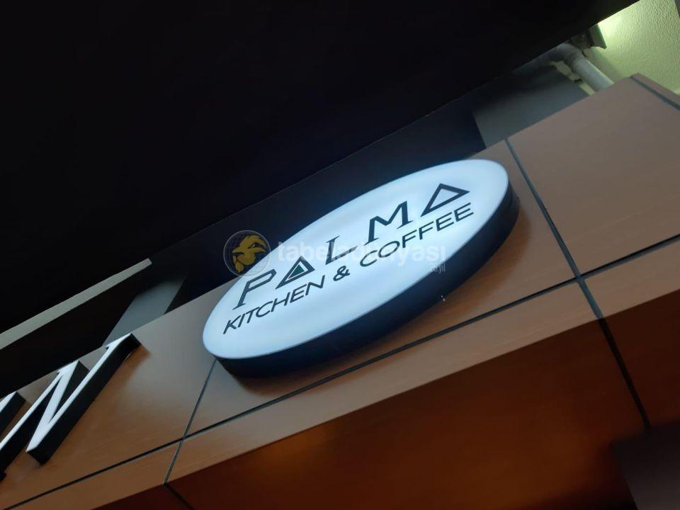 Palma Kitchen Coffee Tek Taraflı Isıklı Elips Tabela