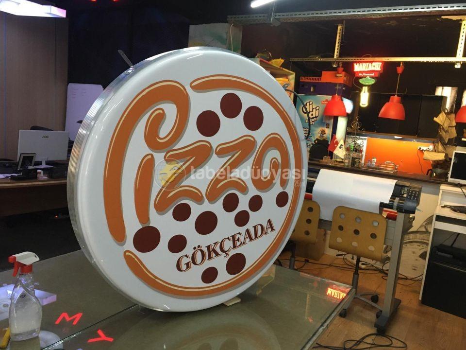 Pizza Gokceada Hazır Daire Tabela imalat