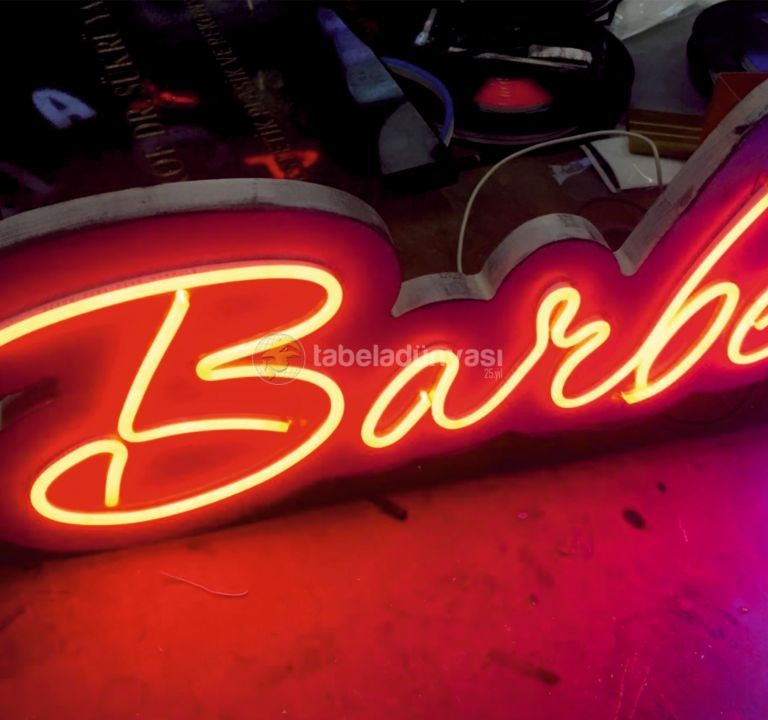 Barber Shop Almanya Neon Hortum Led Tabela imalat