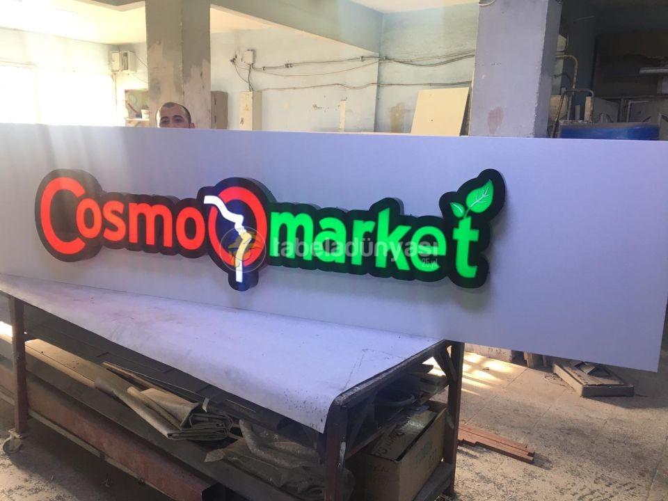Cosma Market Isıklı Tabela