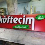 Almanya Cigkoftecim Isıklı kutu harf Tabela