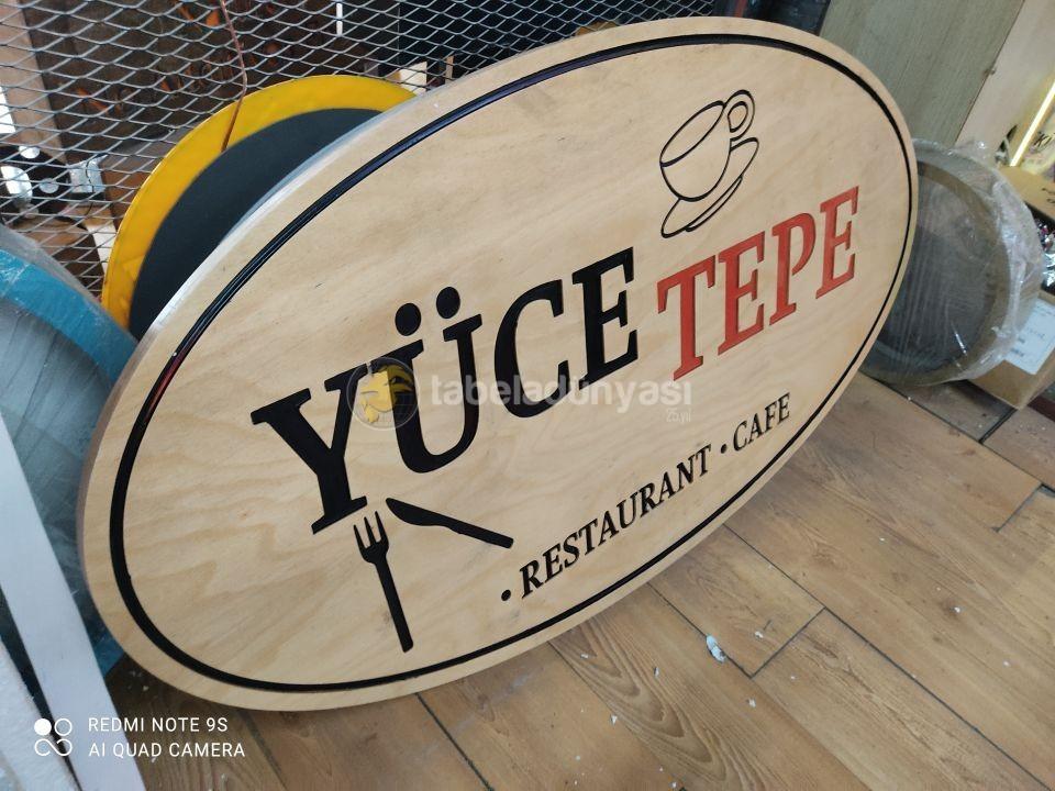Yuce Tepe cafe ahsap tabela