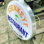 Esenkeyf Restaurant Isıklı Hazır Daire Tabela imalat