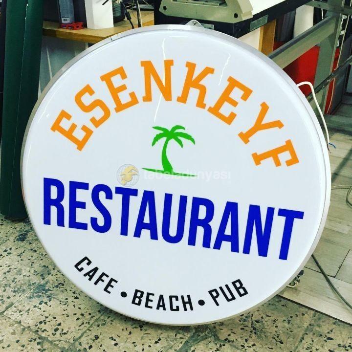 Esenkeyf Restaurant Isıklı Hazır Daire Tabela