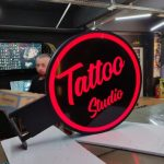 Tattoo Studio Isıklı daire tabela imalat