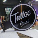 Tattoo Studio hazır ısıklı daire tabela imalat