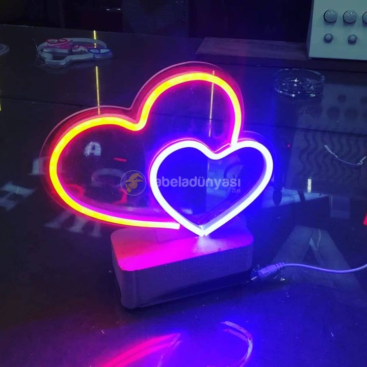 Sevgililer gunu neon hortum led tabela