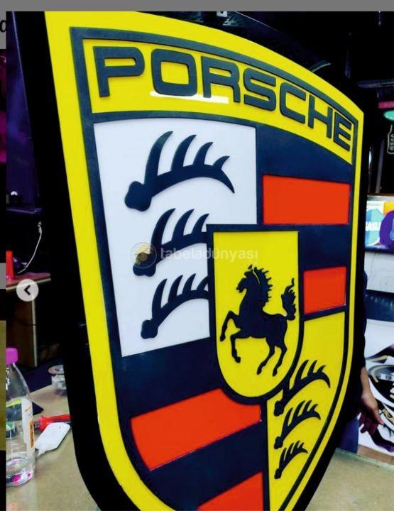 Porsche Isıklı Tabela