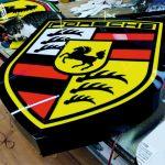Porsche Isıklı Tabela İsvicre imalat