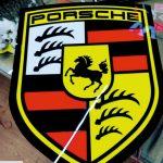Porsche Isıklı Tabela İsvicre imalatı