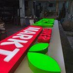 Tabela Isıklı Almanya Mega Mark kutu harf